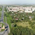 Северный въезд в г. Пушкин с высоты птичьего полета